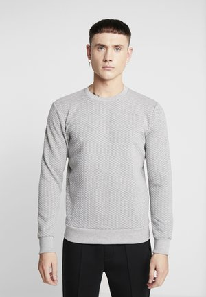 JCOBUTTON CREW NECK - Sweatshirt - light grey melange
