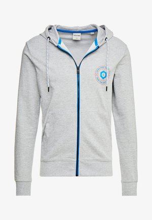 JCOSTRONGER HOOD - veste en sweat zippée - light grey melange