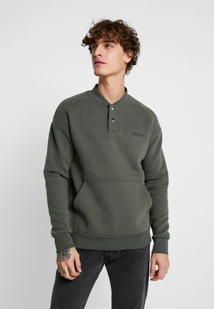 JORDEREN CREW NECK RELAXED FIT - Sweater - forest night