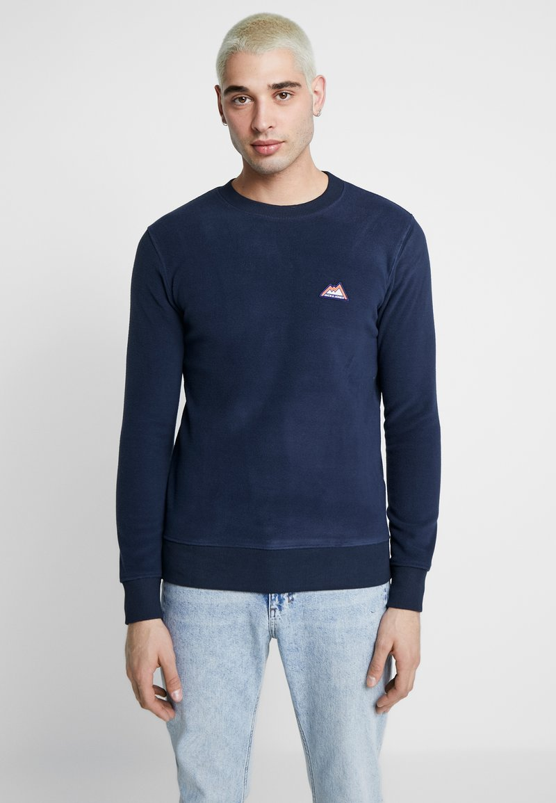 Jack & Jones - JORNORTH CREW NECK - Sweat polaire - navy blazer