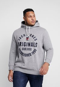 Jack & Jones - JORBRANDON HOOD  - Huppari - light grey melange - 0