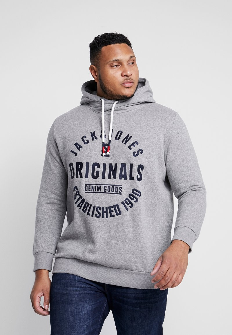 Jack & Jones - JORBRANDON HOOD  - Huppari - light grey melange