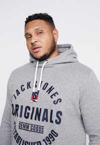 Jack & Jones - JORBRANDON HOOD  - Huppari - light grey melange - 3