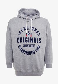 Jack & Jones - JORBRANDON HOOD  - Huppari - light grey melange - 4