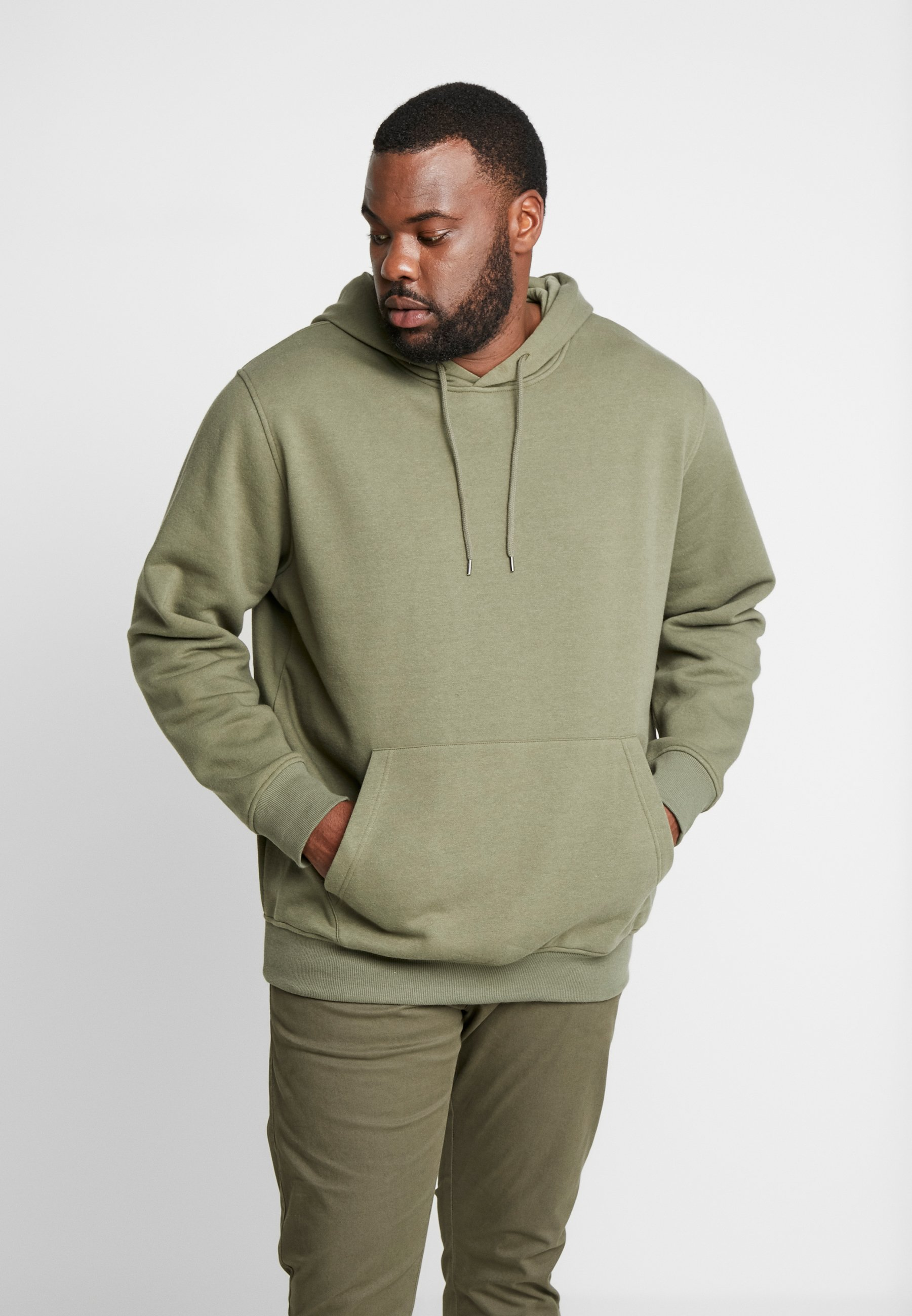 Jack & Jones JORMOULDER HOOD - Bluza z kapturem - dusty olive