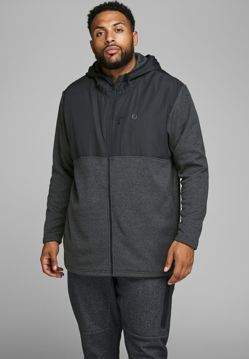 Jack & Jones - Zip-up hoodie - dark grey melange