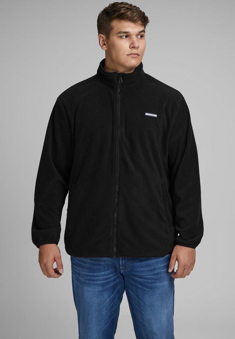 Jack & Jones - REISSVERSCHLUSS - Zip-up hoodie - black