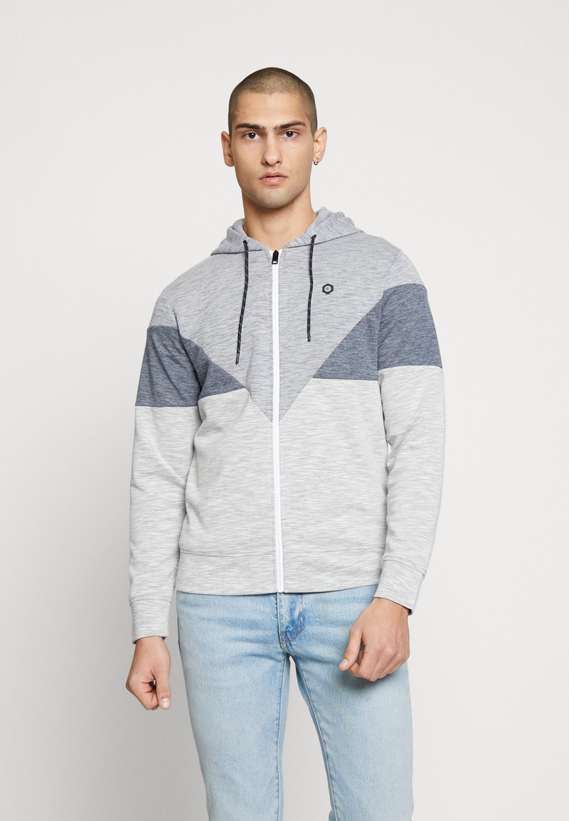 Jack & Jones - JCOTOOK ZIP HOOD - Zip-up hoodie - grey