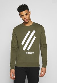Jack & Jones - JCOHOLM CREW NECK - Sweatshirt - dusty olive - 1