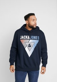 Jack & Jones - JCOBOOSTER HOOD - Sweat à capuche - sky captain - 0