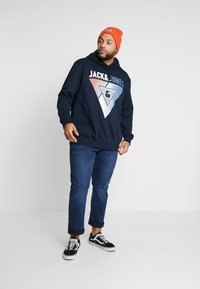 Jack & Jones - JCOBOOSTER HOOD - Sweat à capuche - sky captain - 1