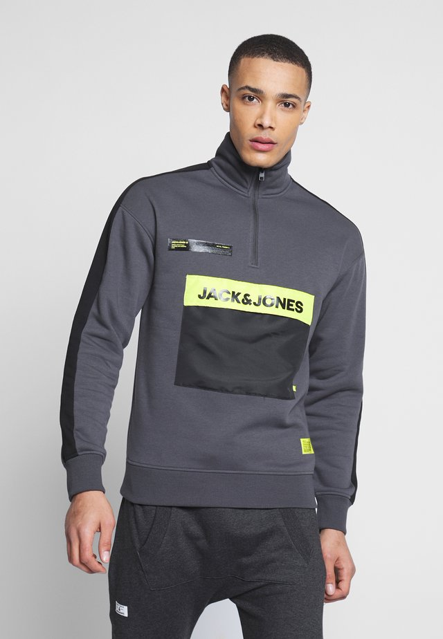 JCORUSSO ZIP HIGH NECK - Sudadera - asphalt