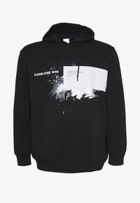 Jack & Jones - JCOKRUSE SWEAT HOOD  - Huppari - black