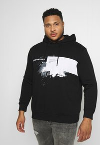 Jack & Jones - JCOKRUSE SWEAT HOOD  - Huppari - black - 0