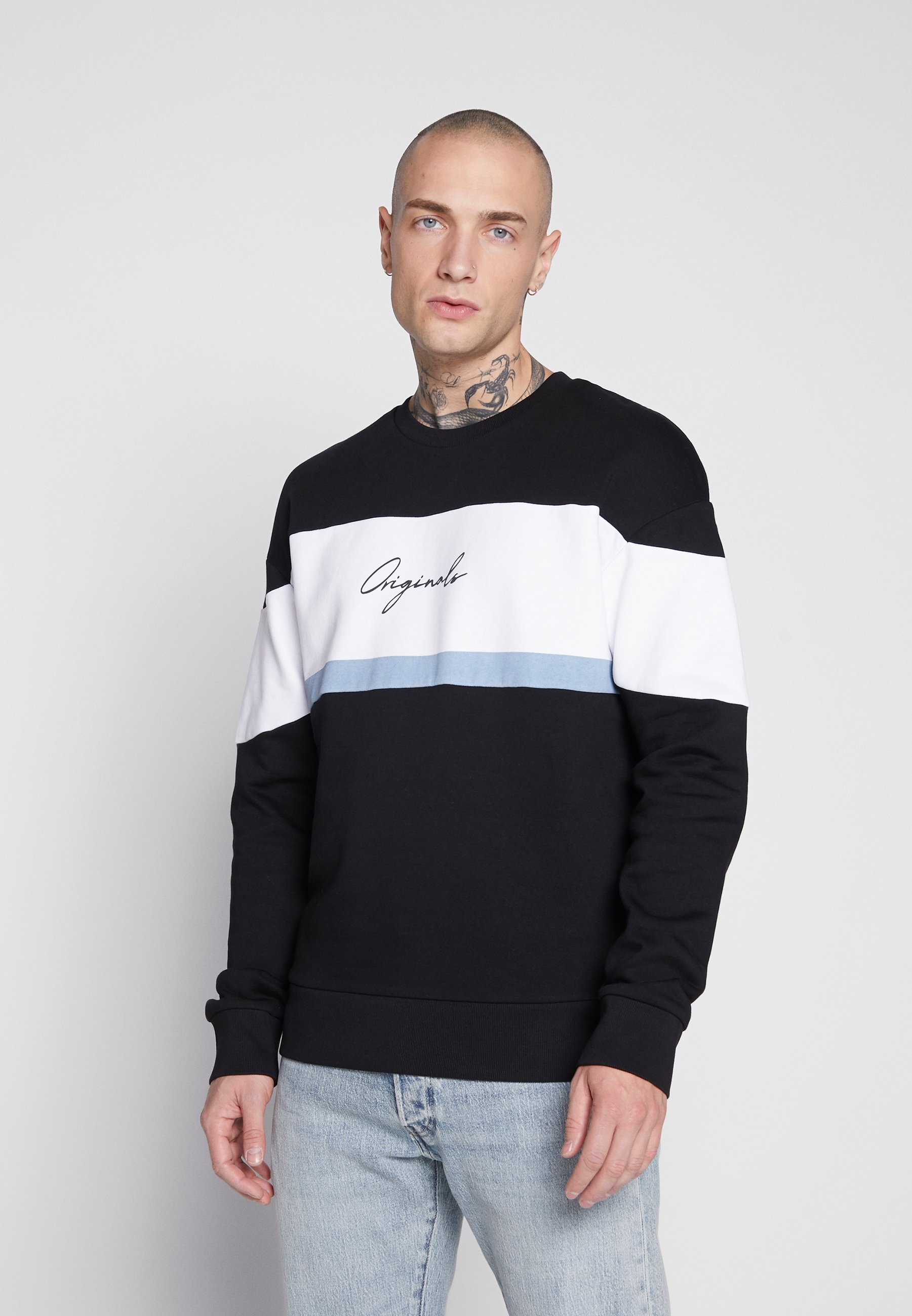 Jack & Jones JORCUBO CREW NECK - Bluza - black