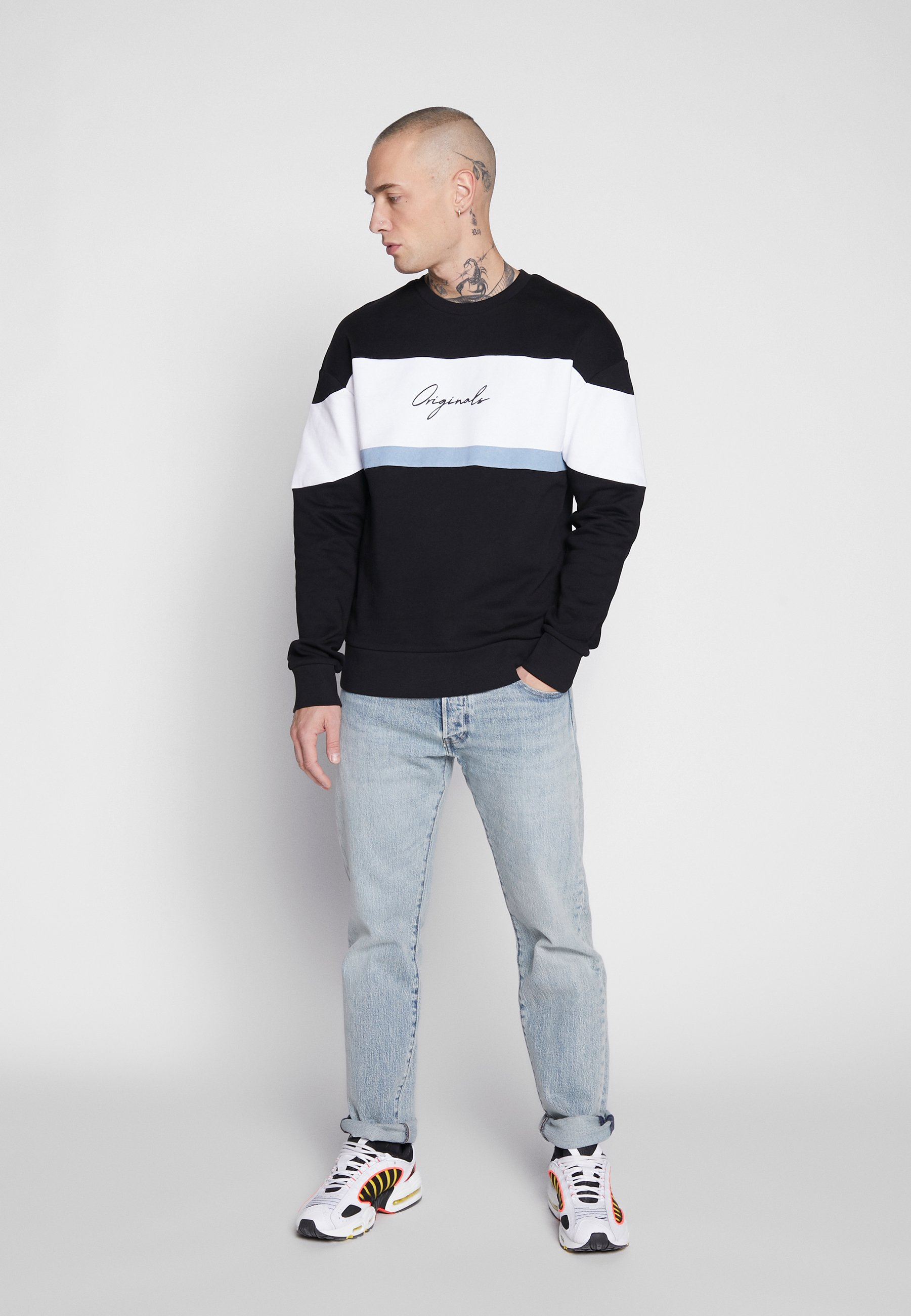 Jack & Jones JORCAINE  - Sweatshirts - navy blazer