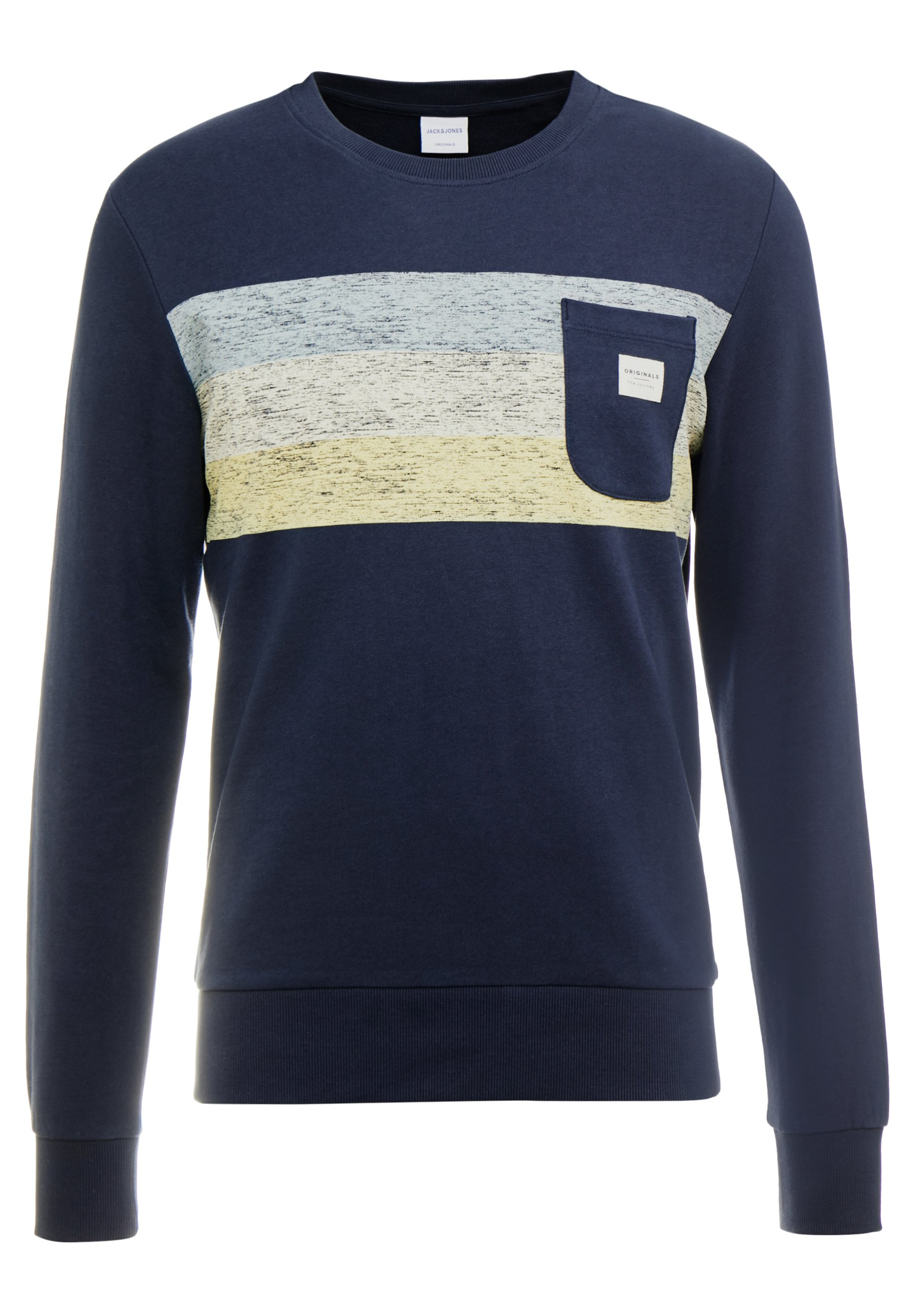 Jack & Jones JORLANGLEY CREW NECK - Felpa - navy blazer