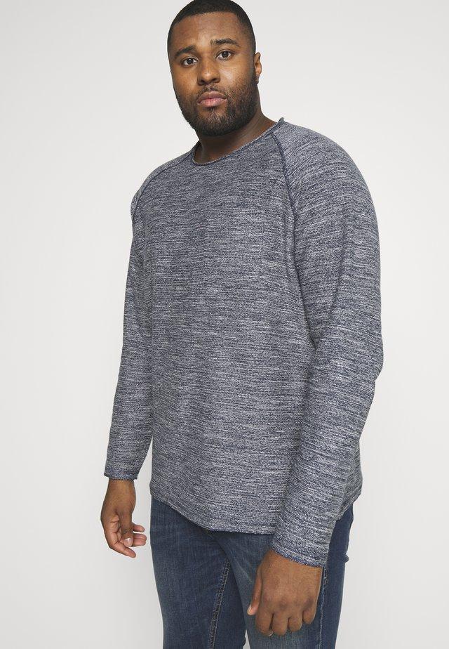 JJETERRY O-NECK - Sweatshirts - navy blazer/melange