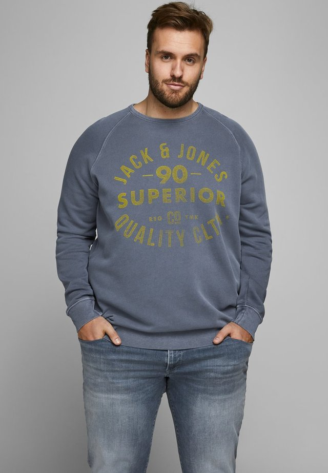 JJEJEANS WASHED CREW NECK - Sudadera - navy