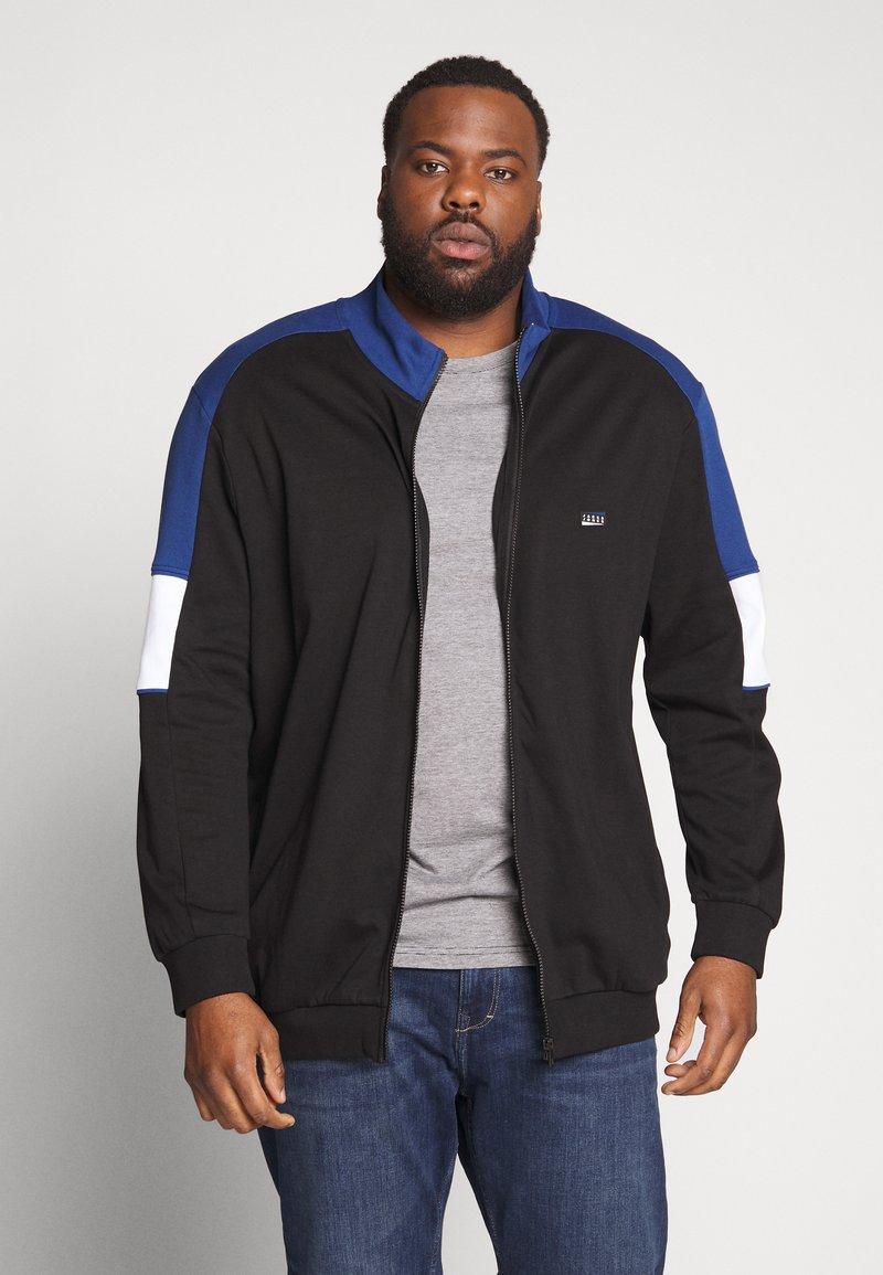 Jack & Jones - JCOSPRINT SWEAT CARDIGAN  - Zip-up hoodie - black
