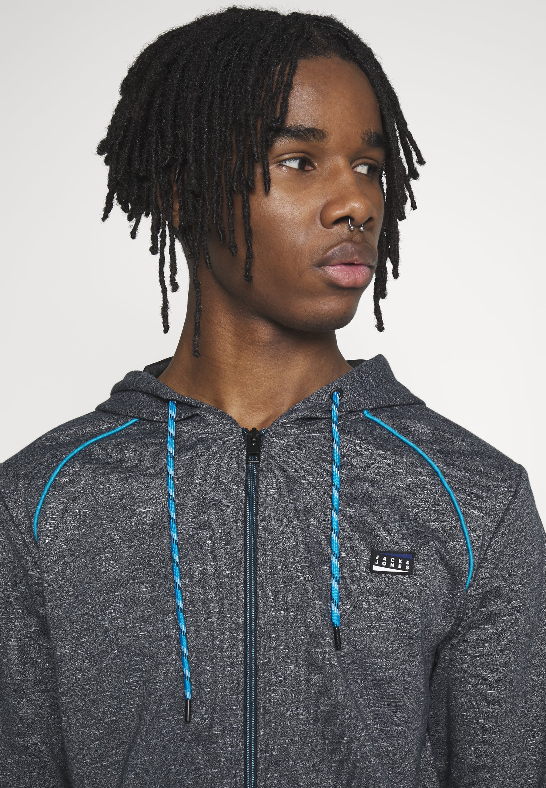 Jack & Jones JCOCOLTS ZIP HOOD CAMP - Bluza rozpinana - sky captain/melange