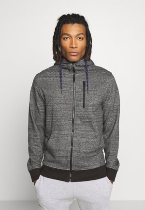 JCOBEST SWEAT HOODY - veste en sweat zippée - black melange
