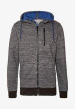 JCOBEST SWEAT HOODY - Zip-up hoodie - black melange