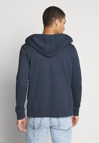 Jack & Jones - JCOSTRONG ZIP HOOD - Zip-up hoodie - sky captain melange - 2
