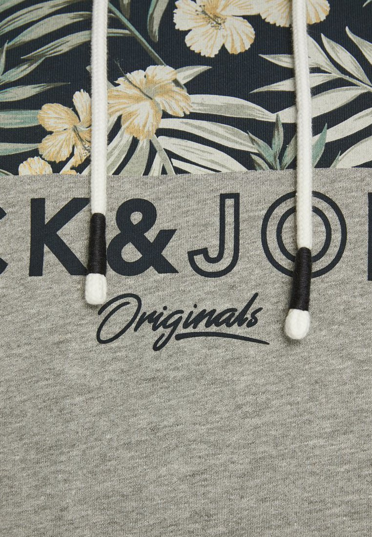 Jack & Jones Felpa Con Cappuccio - Light Grey Melange