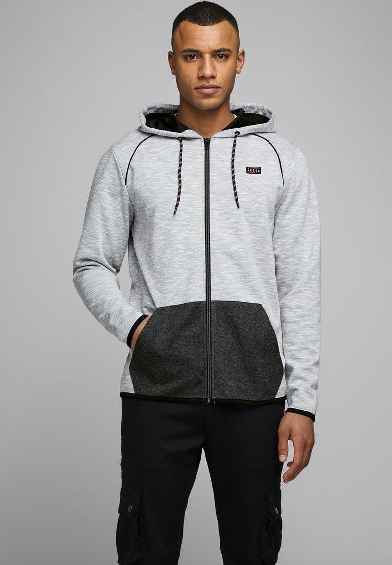 Jack & Jones - Zip-up hoodie - white melange