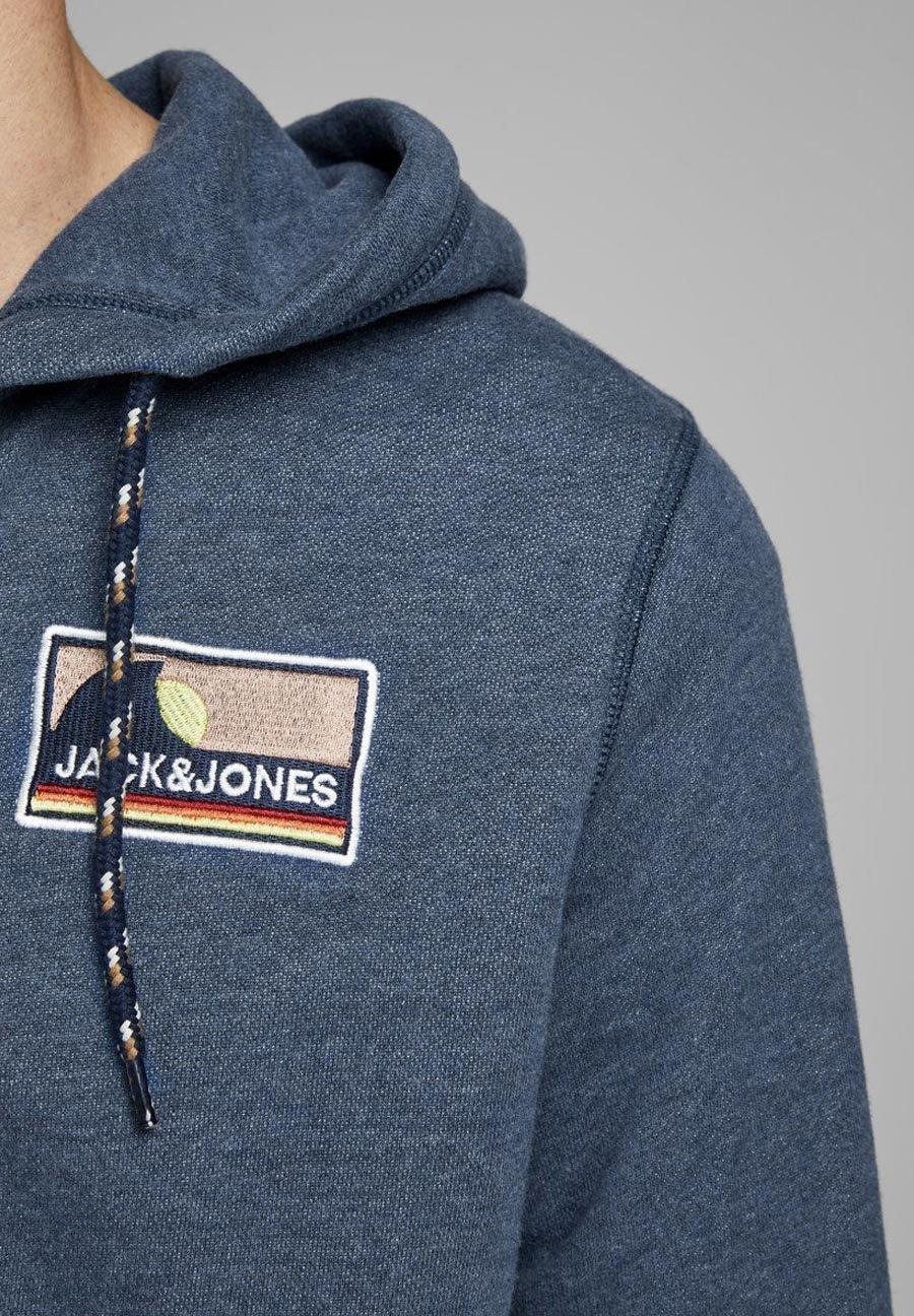 Jack & Jones Huvtröja Med Dragkedja - Ensign Blue