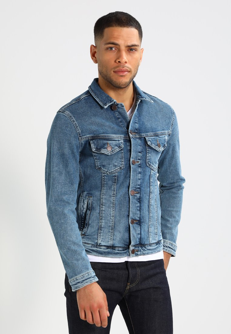 Jack & Jones - JJIALVIN - Chaqueta vaquera - blue denim
