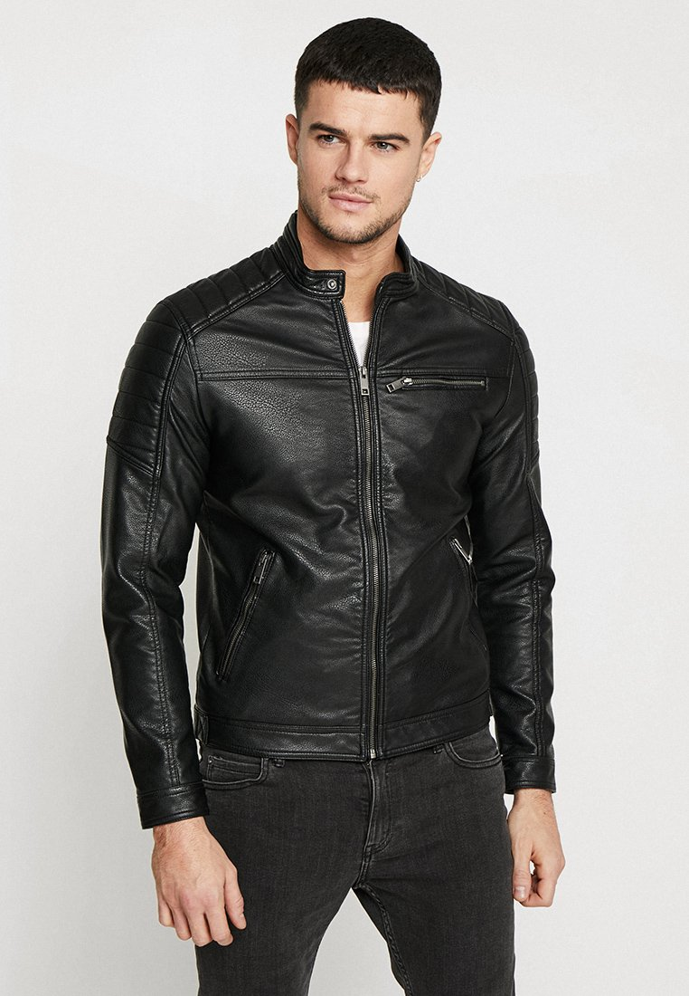 Jack & Jones - JCOROCKY JACKET - Kunstlederjacke - black