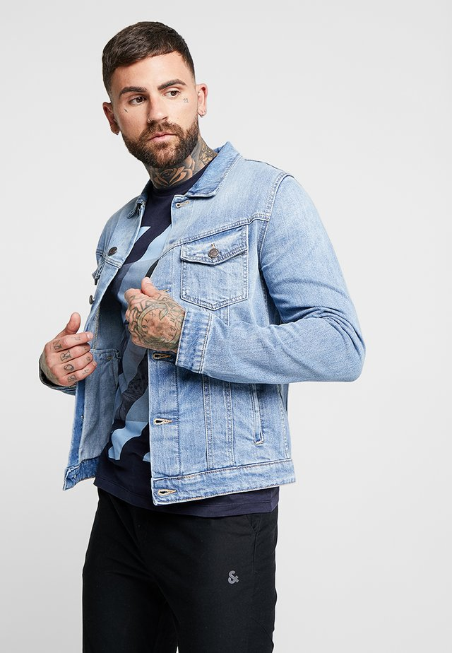 JJIALVIN JJJACKET - Farkkutakki - blue denim
