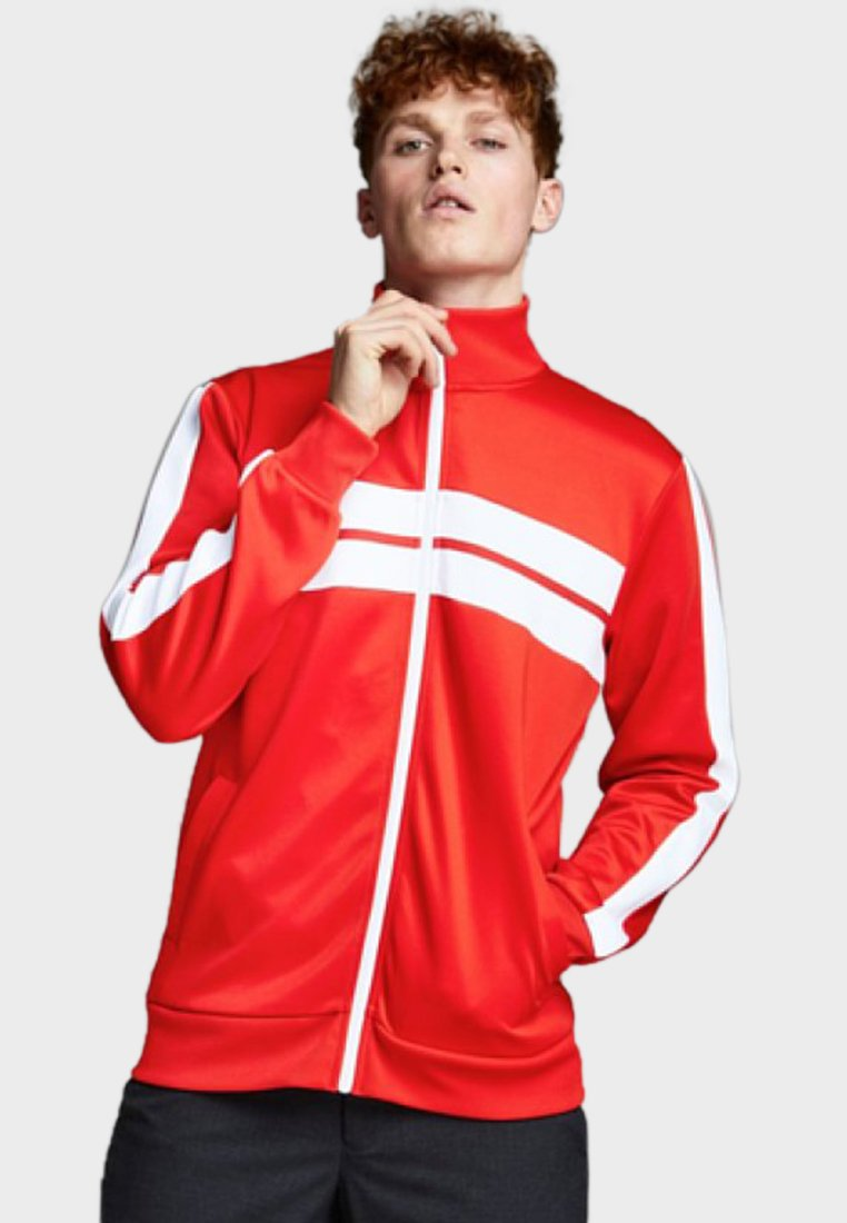 Jack & Jones - RETRO - Träningsjacka - fiery red
