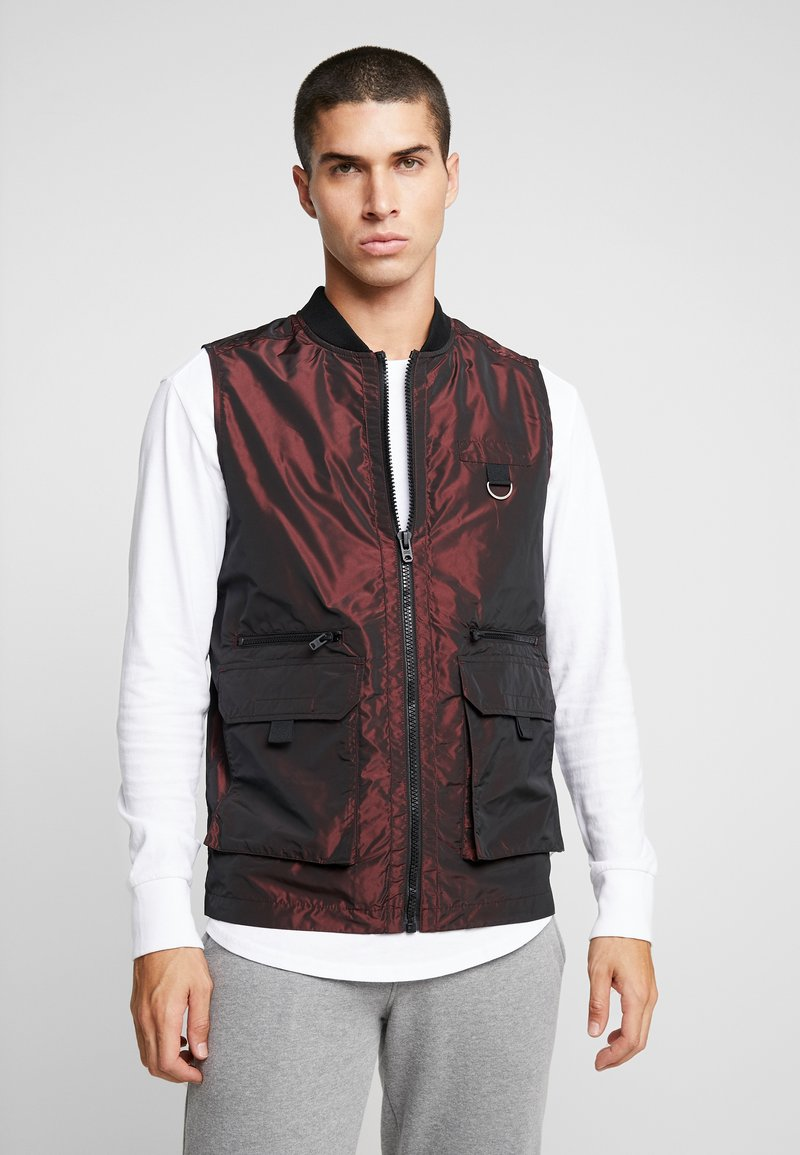 Jack & Jones - JCOVOID - Weste - chinese red/reflective