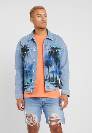 JJIJEAN JJJACKET OVERSIZE - Denim jacket - blue denim