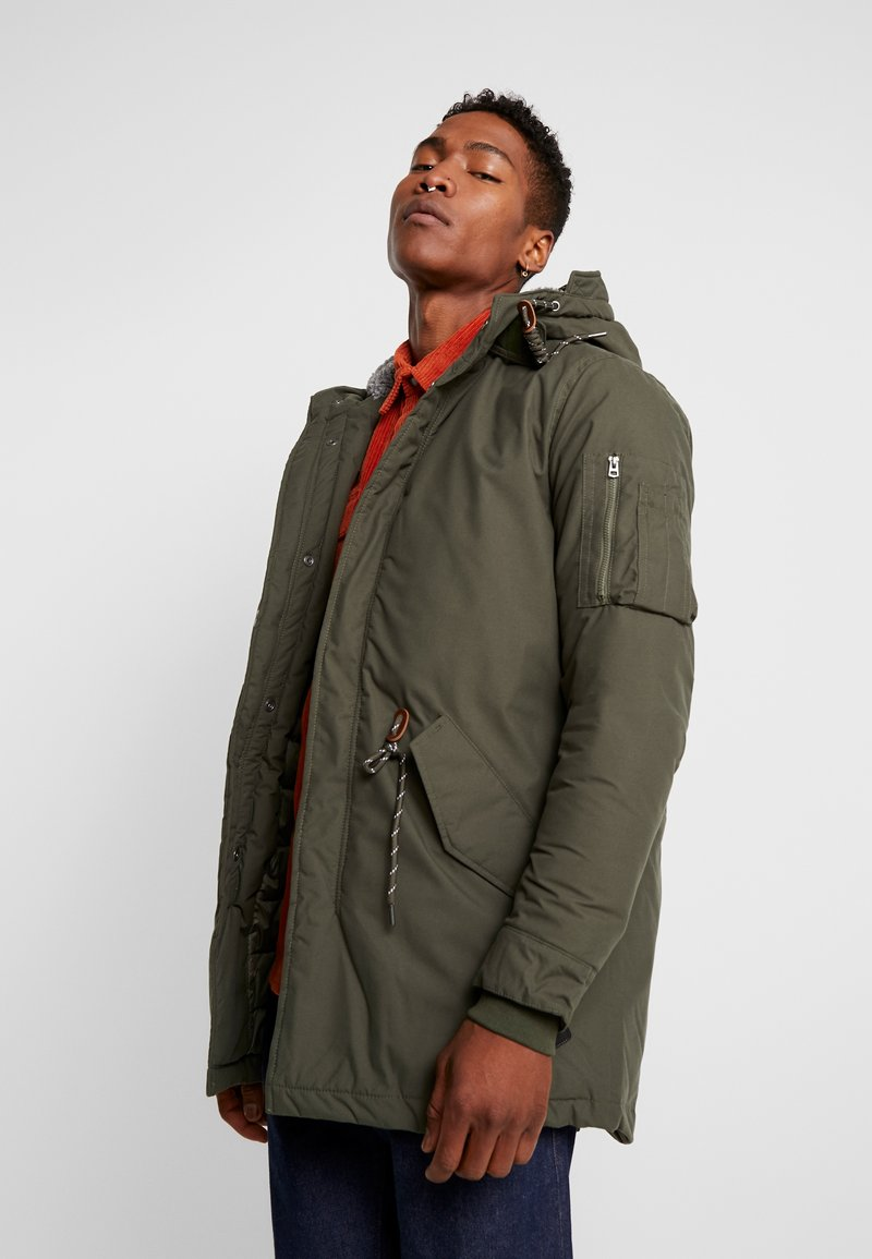Jack & Jones - JORTONY JACKET - Vinterkappa /-rock - forest night