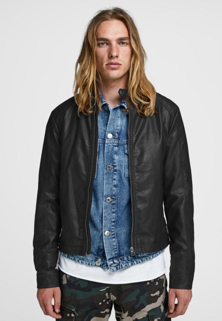 Jack & Jones - Leather jacket - black