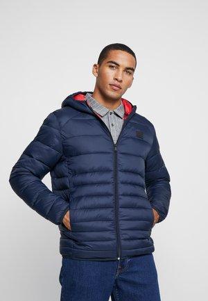 JJEBOMB PUFFER HOOD - Zimní bunda - navy blazer
