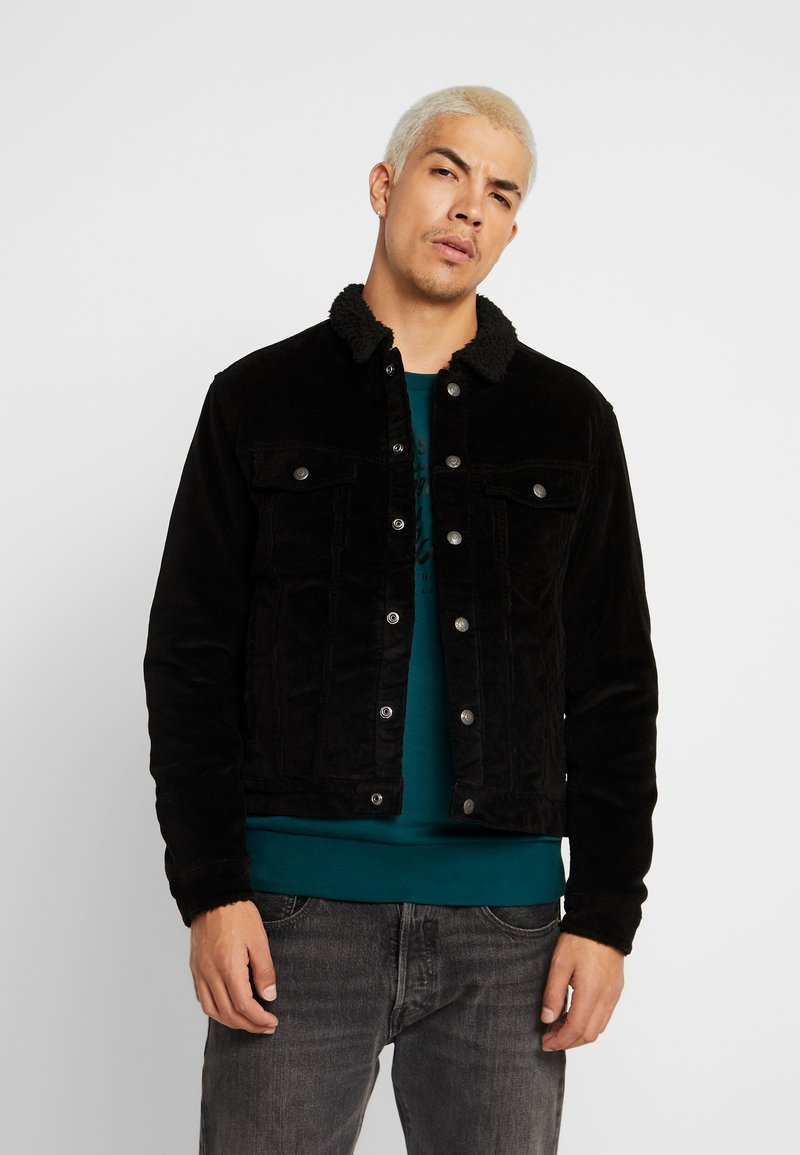 Jack & Jones - JJIALVIN JJSHERPA - Light jacket - black