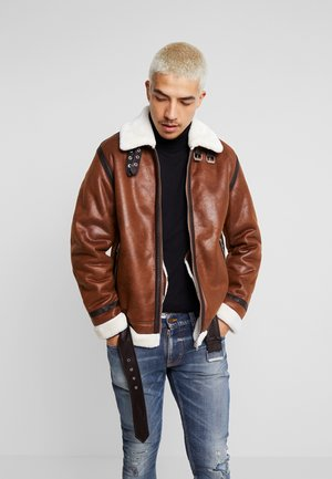 JORALBERT JACKET - Faux leather jacket - cognac