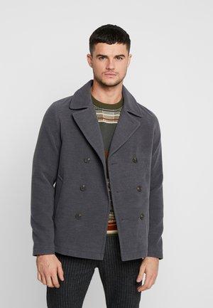 JORPEACOAT - Classic coat - dark grey melange