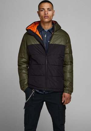 JCOOSCAR JACKET HOOD - Winter jacket - olive