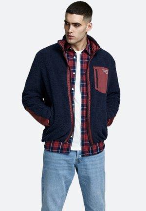 Fleece jacket - dark-blue denim