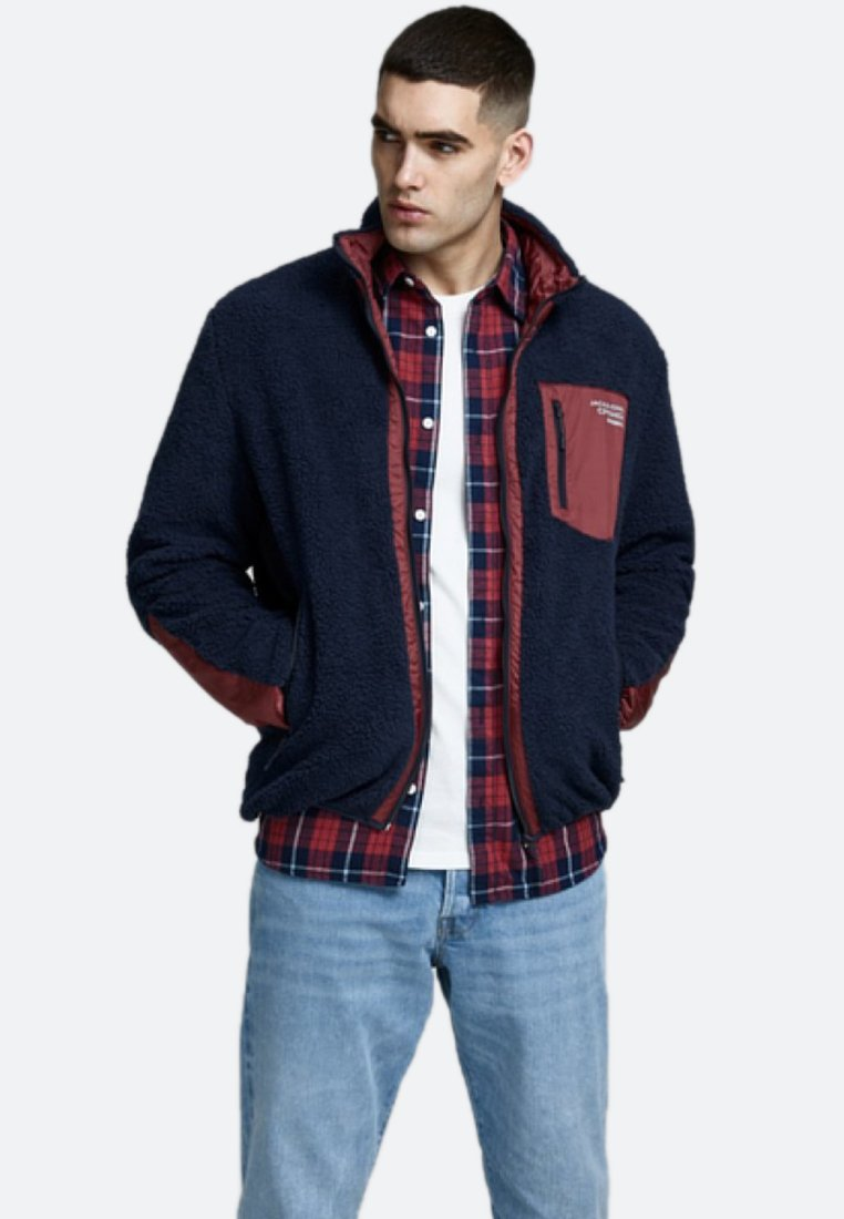 Jack & Jones - Fleece jacket - dark-blue denim