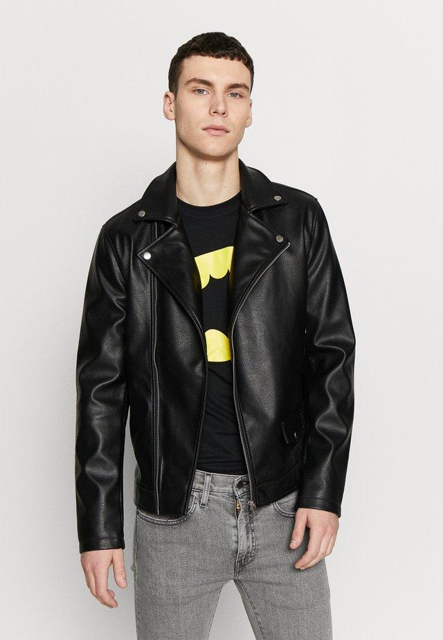 JORHIPE BIKER  - Faux leather jacket - black