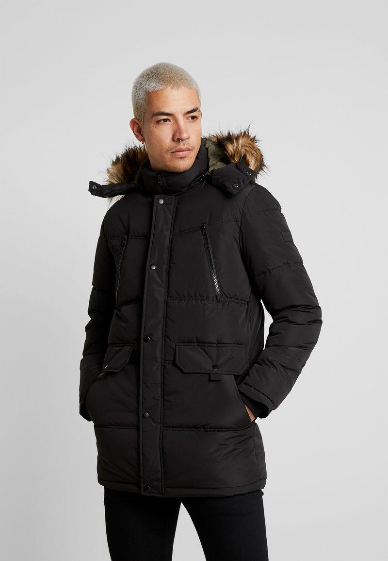 Jack & Jones - JCOMARIO PUFFER - Zimní kabát - black