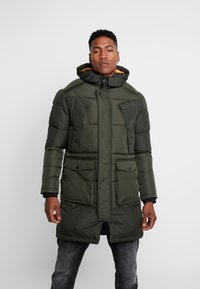 Jack & Jones - JCOJAKE LONG PUFFER - Parka - forest night - 0