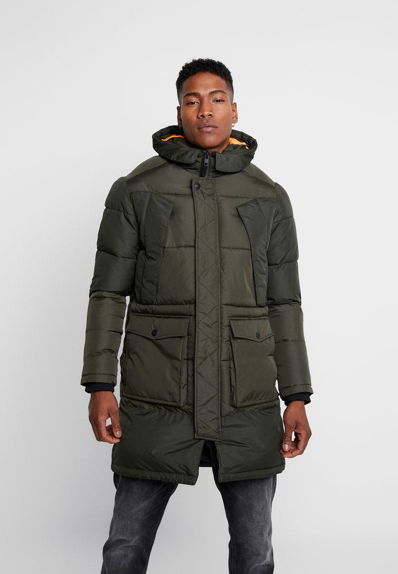 Jack & Jones - JCOJAKE LONG PUFFER - Parka - forest night